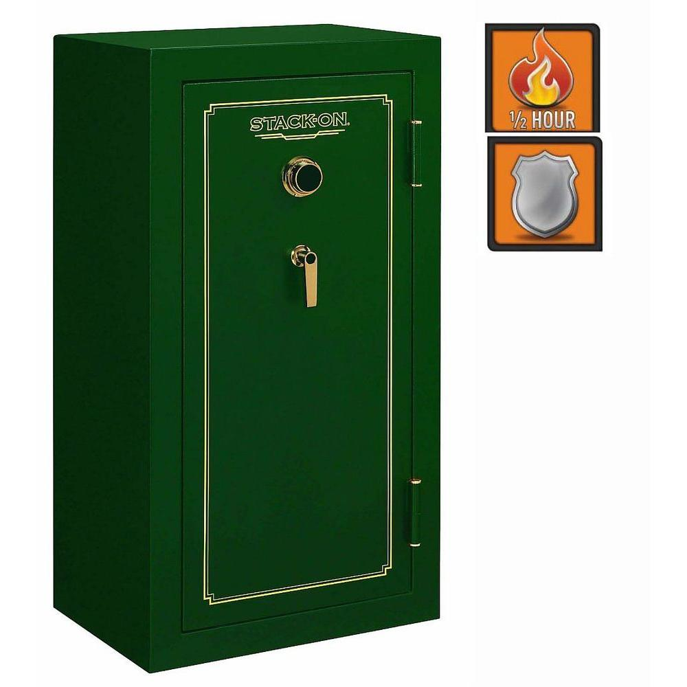 Stack-On 24-Gun Fire Safe Combination Lock in Matte Hunter Green