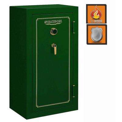 24-Gun Fire Safe Combination Lock in Matte Hunter Green