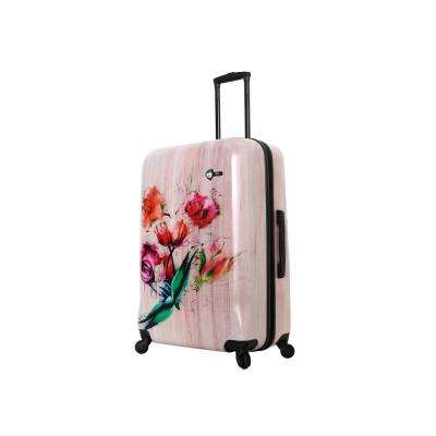 Paola 28 in. Painted Flowers Spinner Suitcase