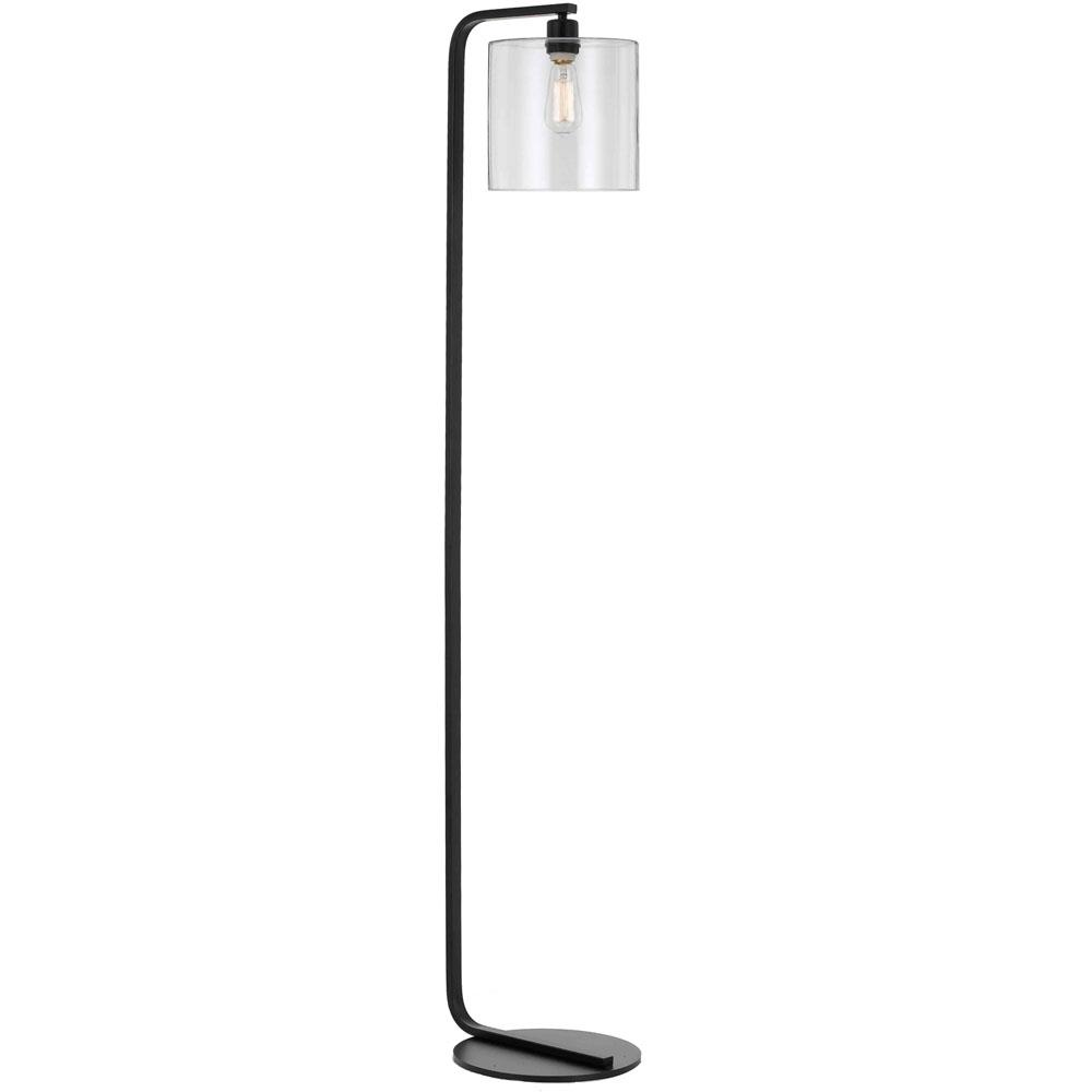 Af Lighting Lowell 605 In Black Floor Lamp With Clear Glass Globe Wiring Kit Ottlite