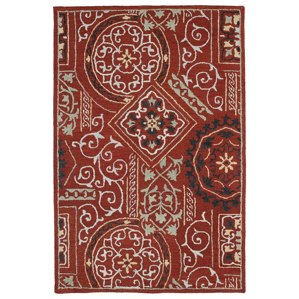 Brooklyn Xander Red 7 ft. 6 in. x 9 ft. Area