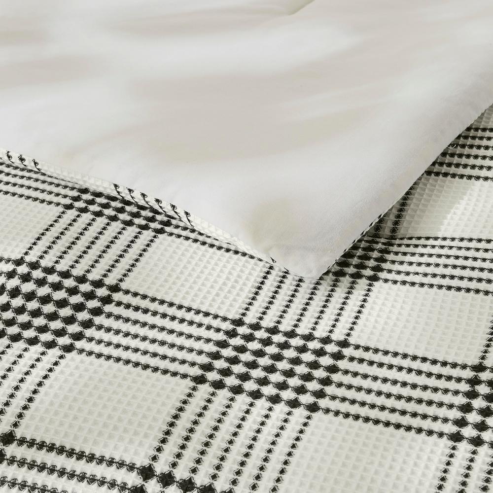 Adderley 3-Piece Black and White Plaid Comforter Set