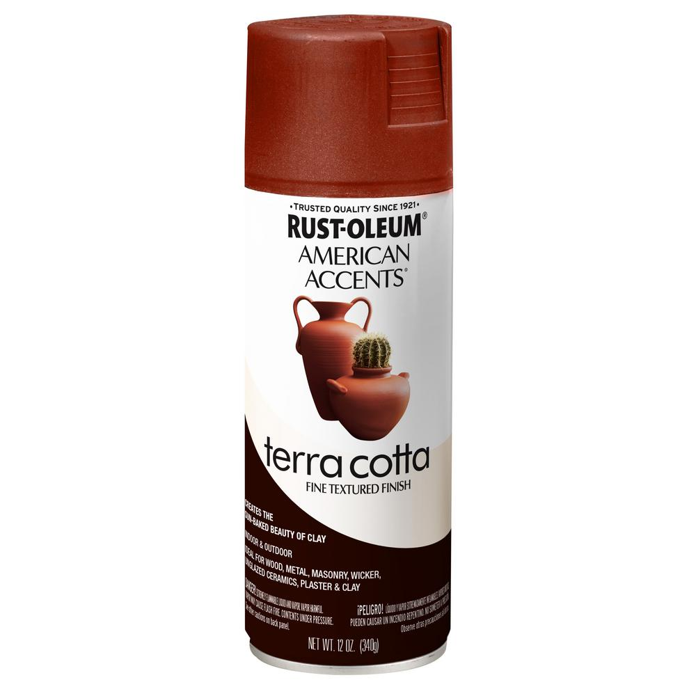 Rust-Oleum American Accents 12 oz. Terra Cotta Clay Pot Textured Finish Spray Paint (6-Pack)