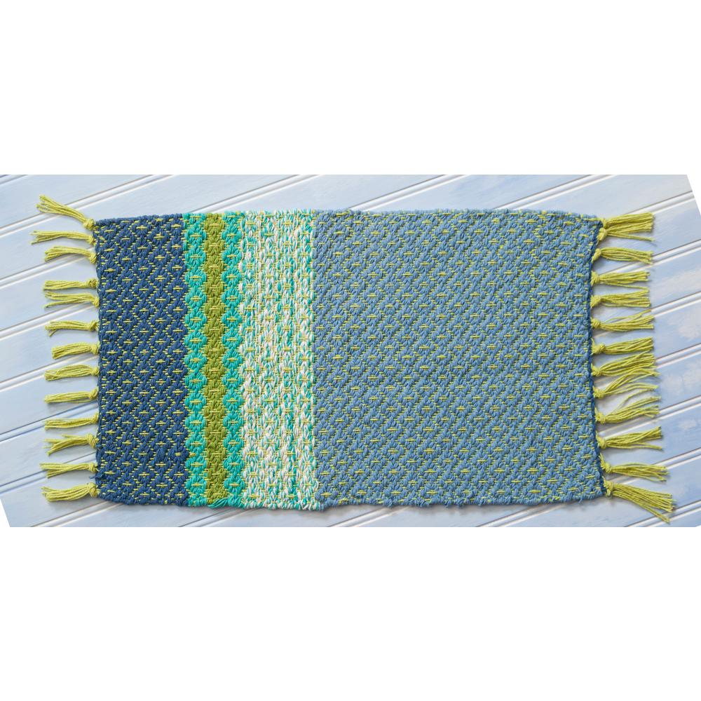 Blue Ridge Woven Blue Placemats (Set of 4)
