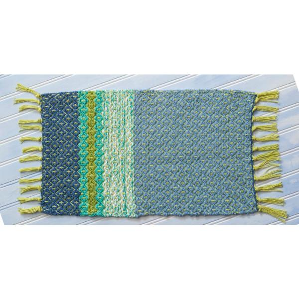 April Cornell Blue Ridge Woven Blue Placemats (Set of 4) MPWBLUF.Blue