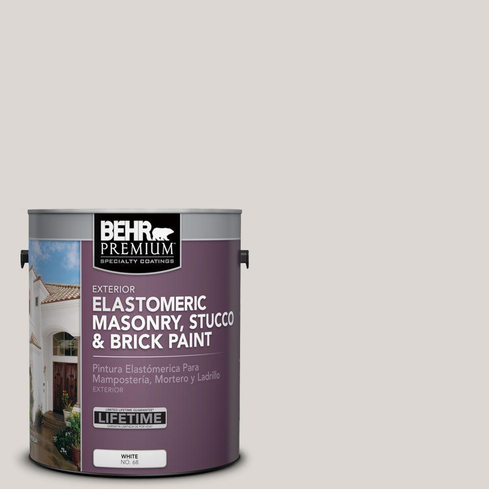 1 gal. #MS-88 Pearl Gray Elastomeric Masonry, Stucco and Brick Exterior Paint