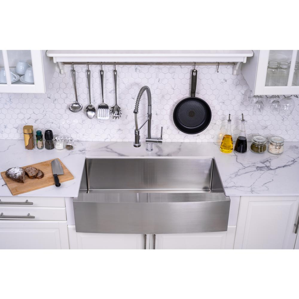 Swiss Madison Rivage 36 in. x 21 in. Stainless Steel, Single Basin,  Farmhouse Kitchen Sink with Apron