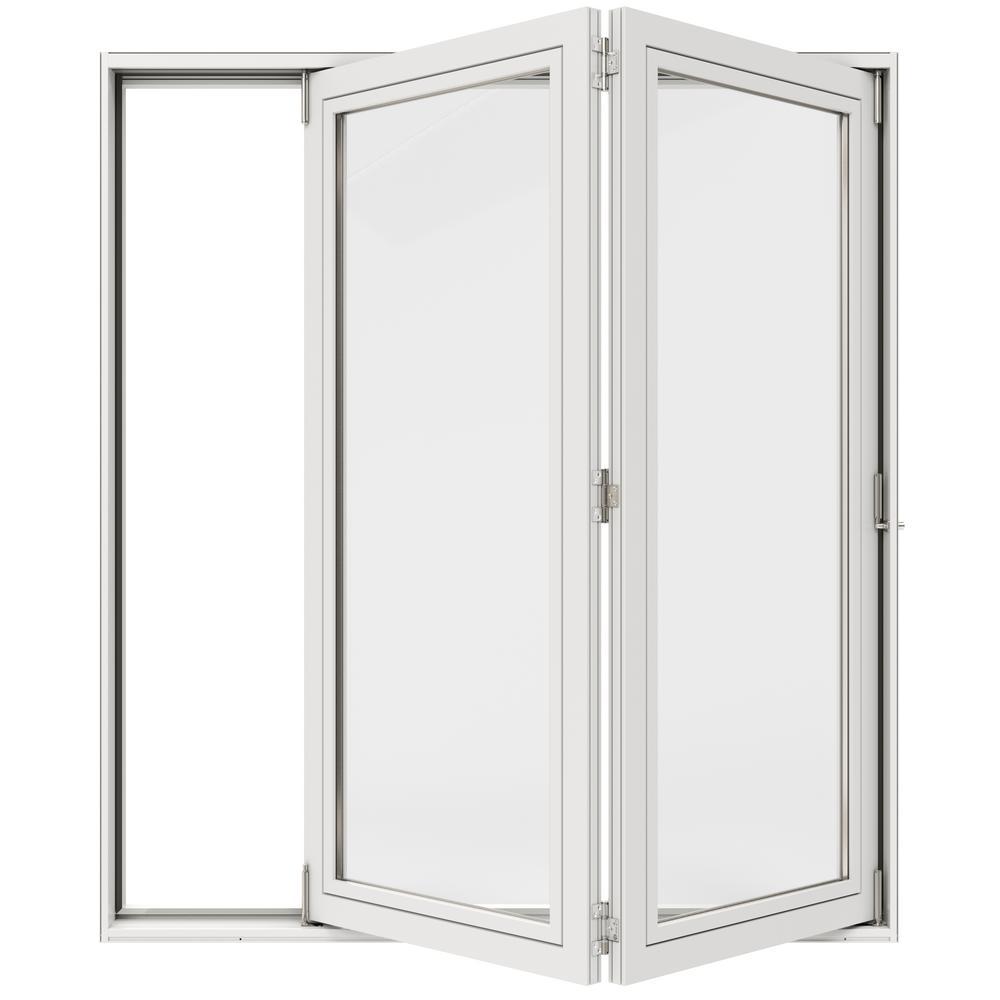 72 in. x 80 in. Primed Fiberglass Right-Hand Full Lite F-2500 2-Panel Folding Patio Door Kit