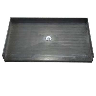 33 in. x 60 in. Barrier Free Shower Base with Center Drain