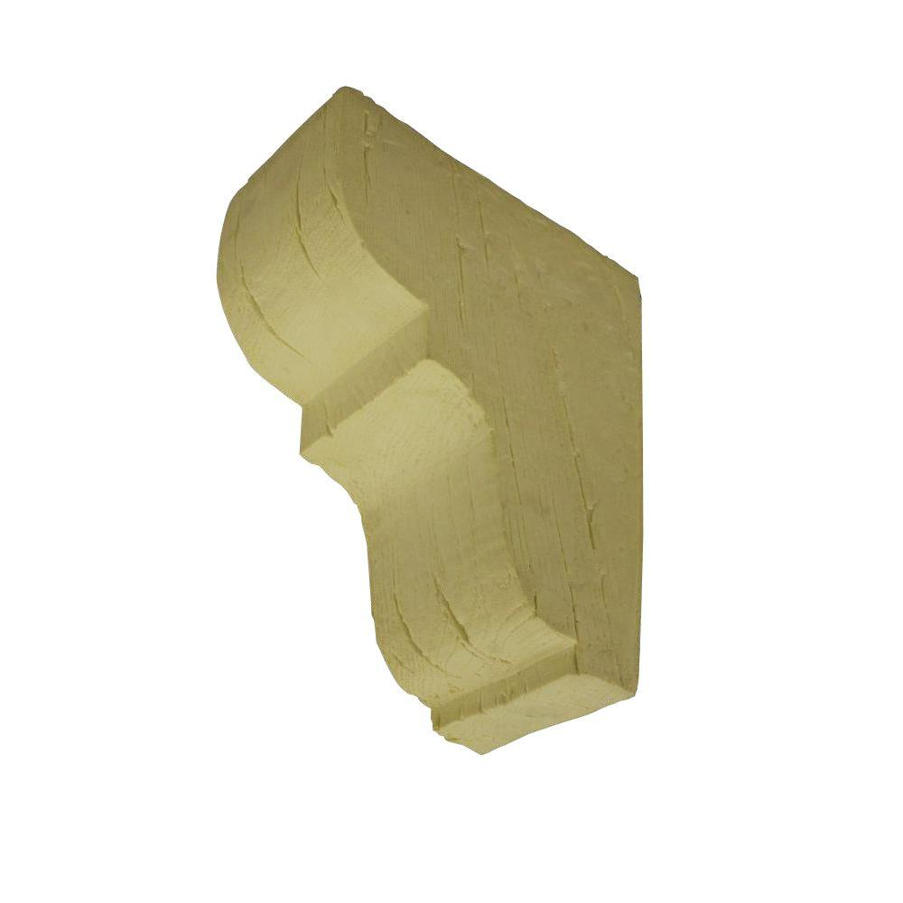null 10-5/8 in. x 10-5/8 in. x 4-3/4 in. Unfinished Polyurethane Rustic Faux Wood Corbel