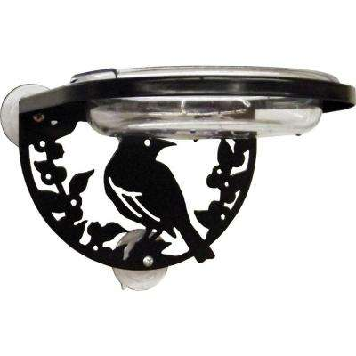 6 in. Silhouette Window Mount Songbird Multi-Use Bird Feeder