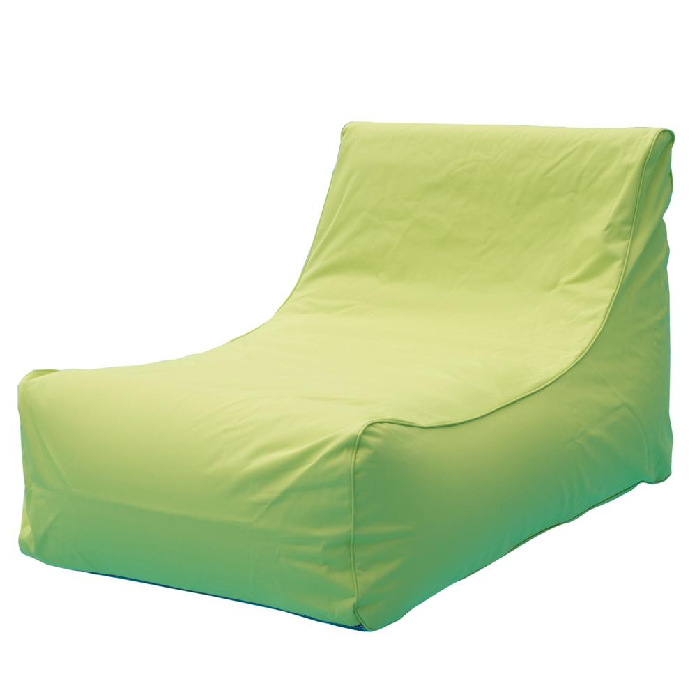 Ocean Blue Aruba Inflatable Lounge Chair In Lime