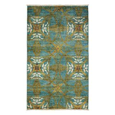 Arts Blue 3 ft. x 5 ft. Indoor Area Rug