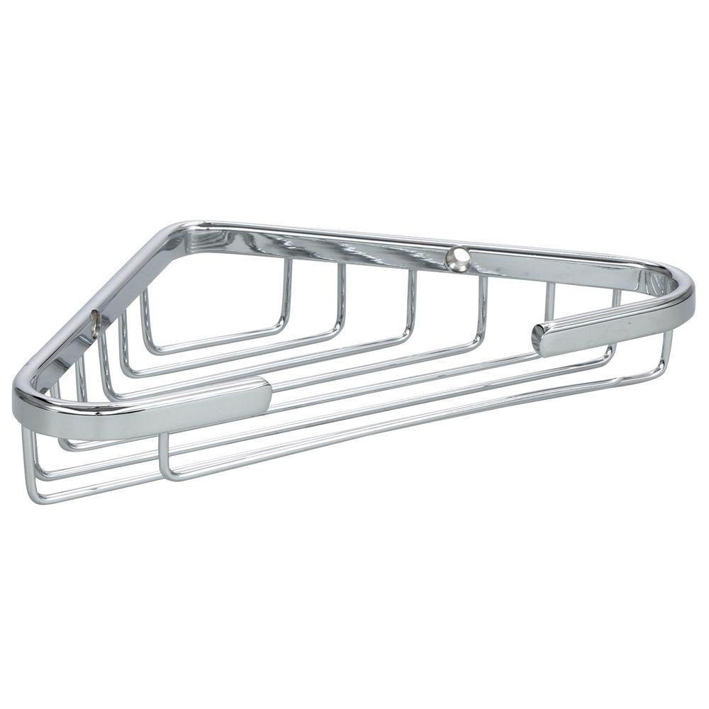 Corner Soap Dish Chrome Medium Pre Drilled Shower Caddy