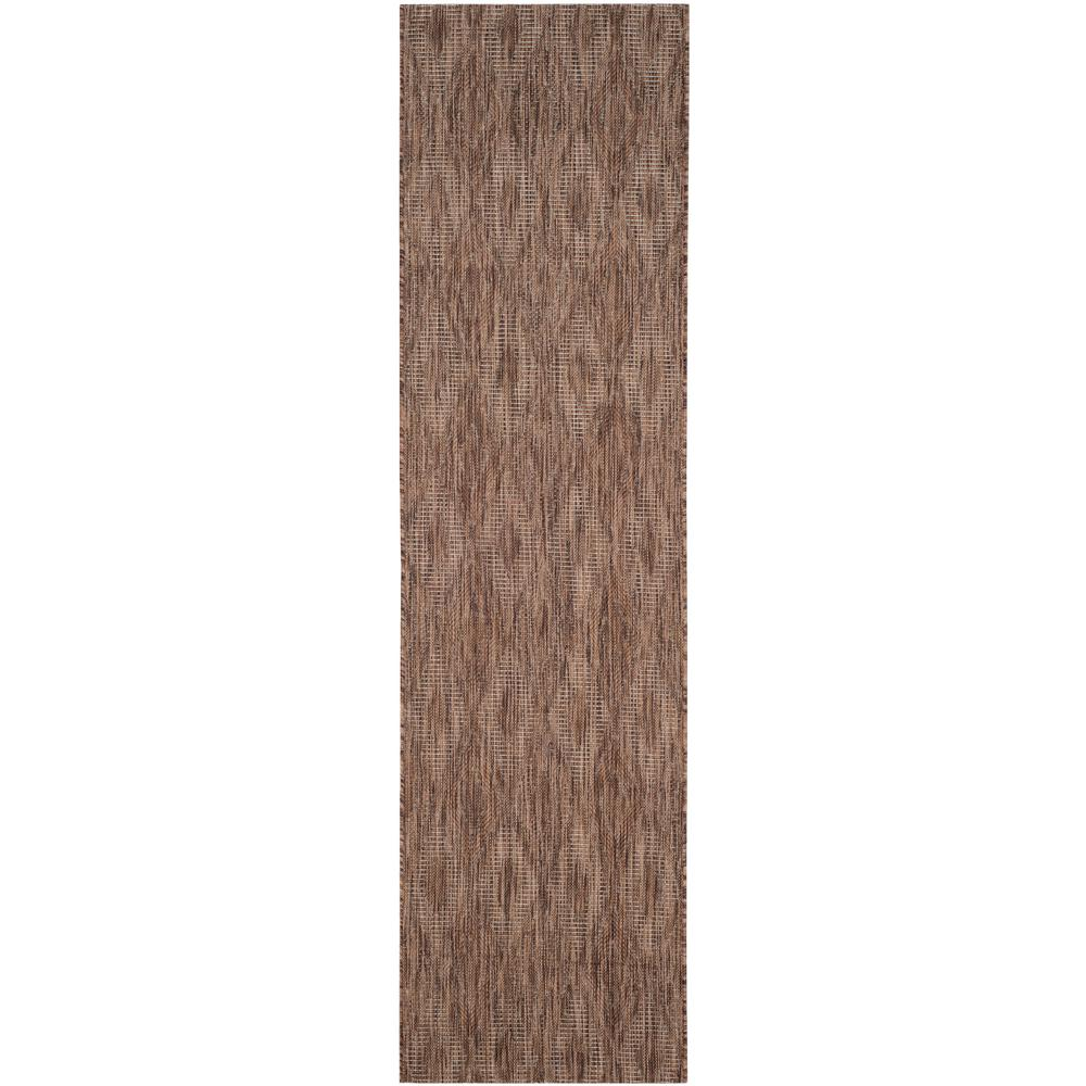Courtyard Brown 2 ft. 3 in. x 12 ft. Indoor/Outdoor Runner