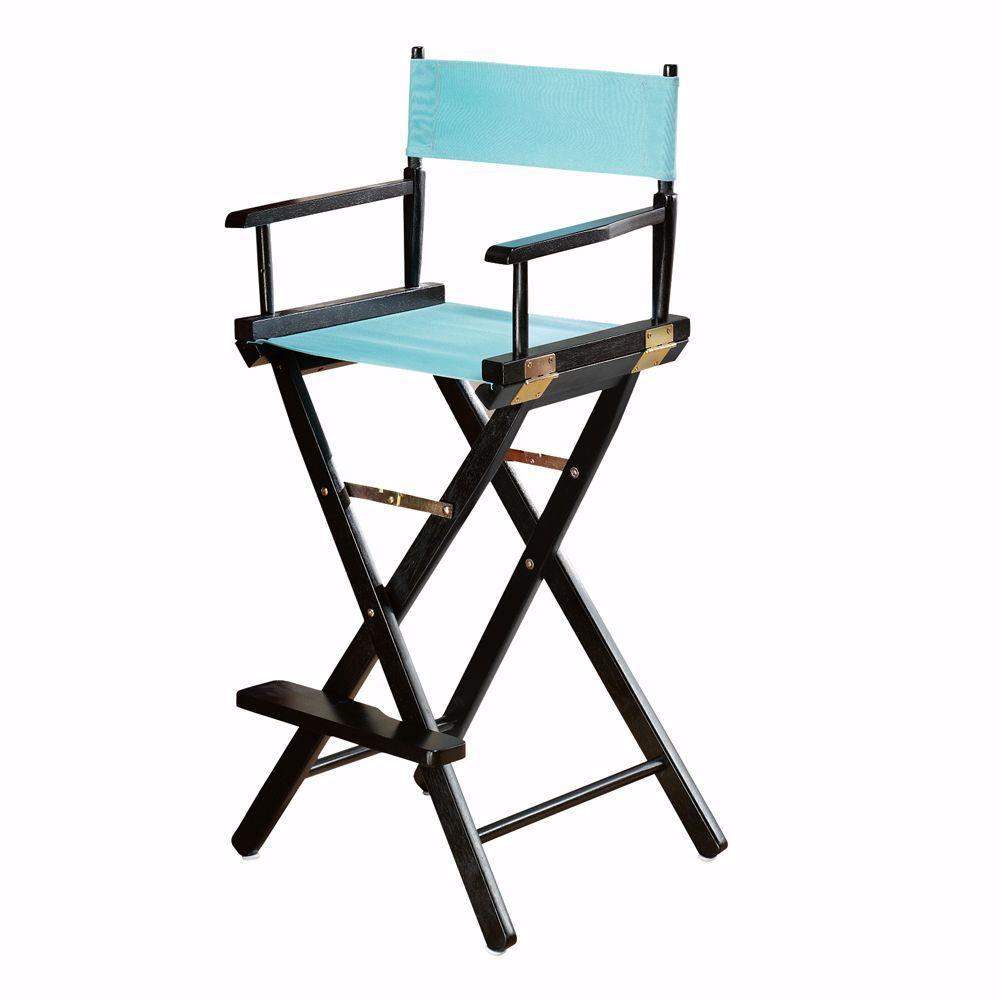 Casual Home Black Wood Folding Director S Chair 0887900210 The Depot