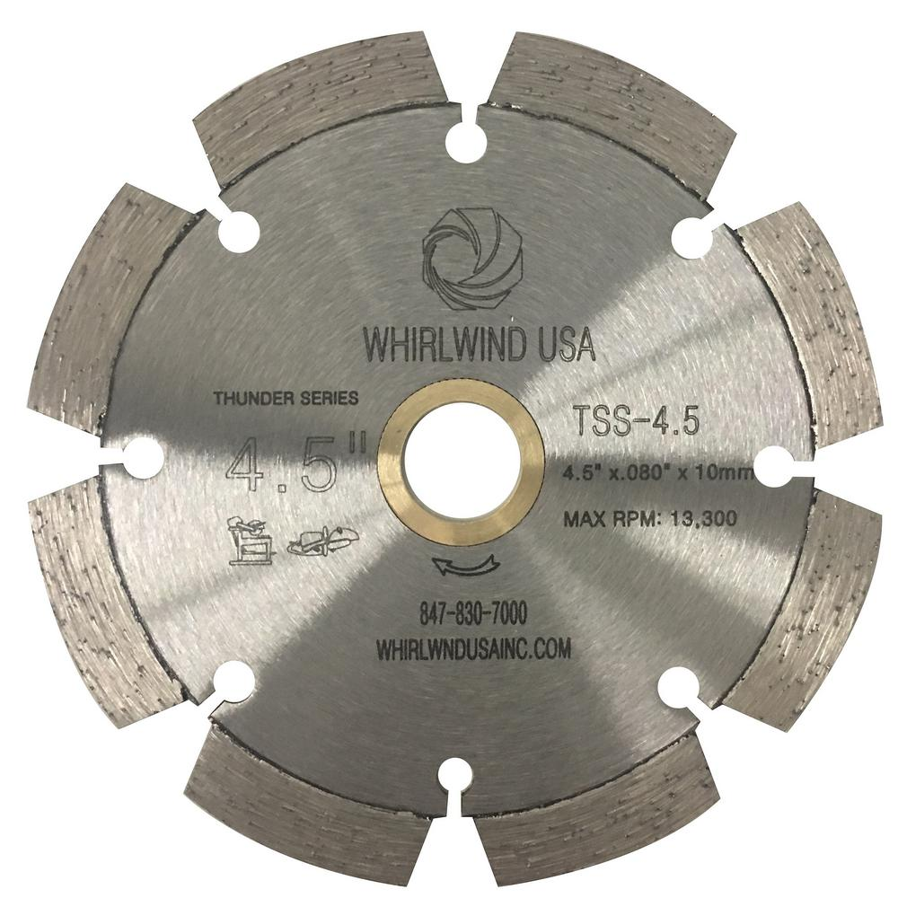 Whirlwind usa 45 in 8 teeth segmented laser welded diamond blade 8 teeth segmented laser welded diamond blade for dry or greentooth Gallery