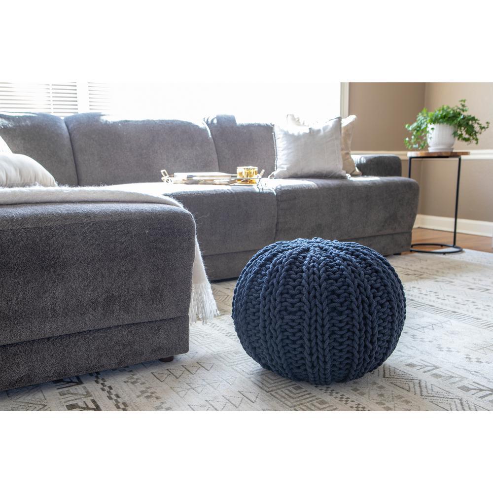 Surprising Blue Ottomans Living Room Furniture The Home Depot Theyellowbook Wood Chair Design Ideas Theyellowbookinfo
