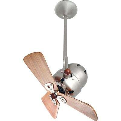 Bianca Direcional 16 in. Indoor/Outdoor Brushed Nickel Ceiling Fan with Wall Control