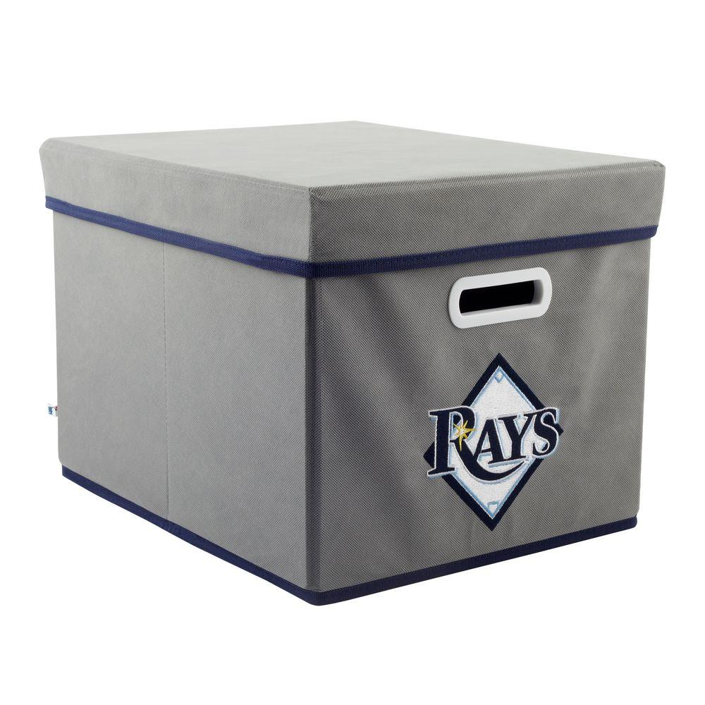 MyOwnersBox MLB STACKITS Tampa Bay Rays 12 in. x 10 in. x 15 in. Stackable Grey Fabric Storage Cube