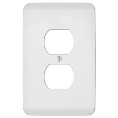 Perry 1 Gang Duplex Steel Wall Plate - White