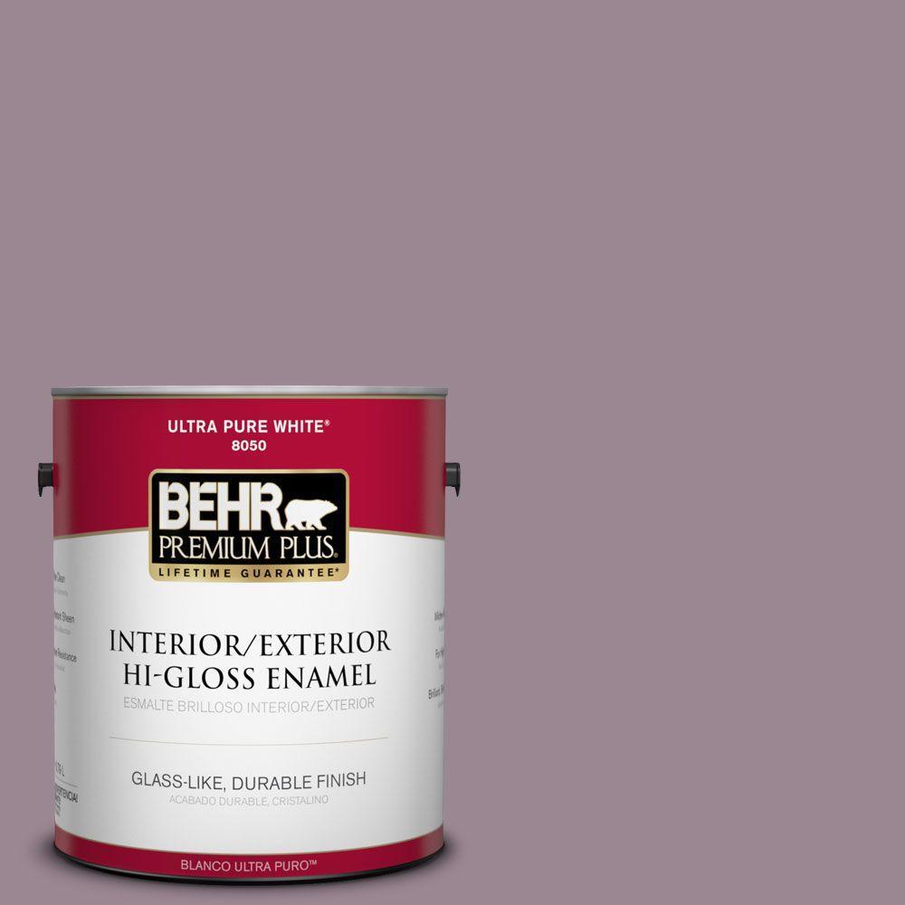 BEHR Premium Plus 1-gal. #690F-5 Purple Mauve Hi-Gloss Enamel Interior/Exterior Paint