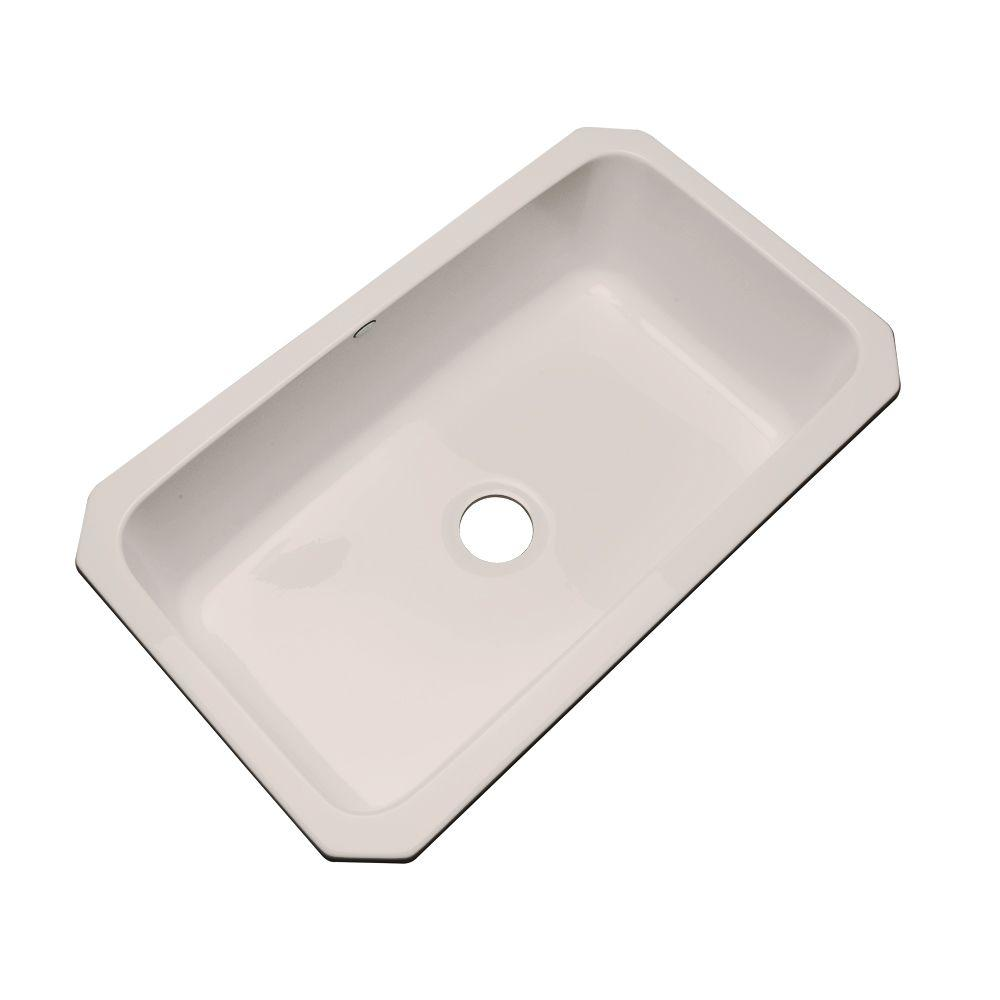 Thermocast Manhattan Undermount Acrylic 33 in. Single Basin Kitchen Sink in Shell