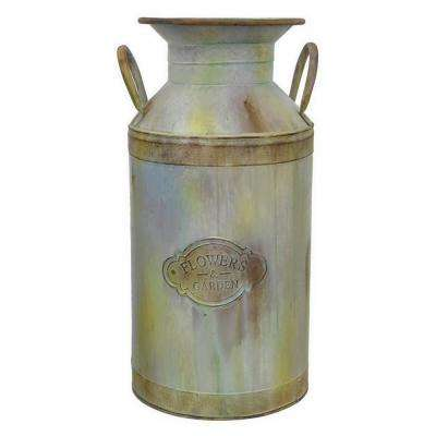 9.25 in. x 10.25 in. Metal Jug in Gray