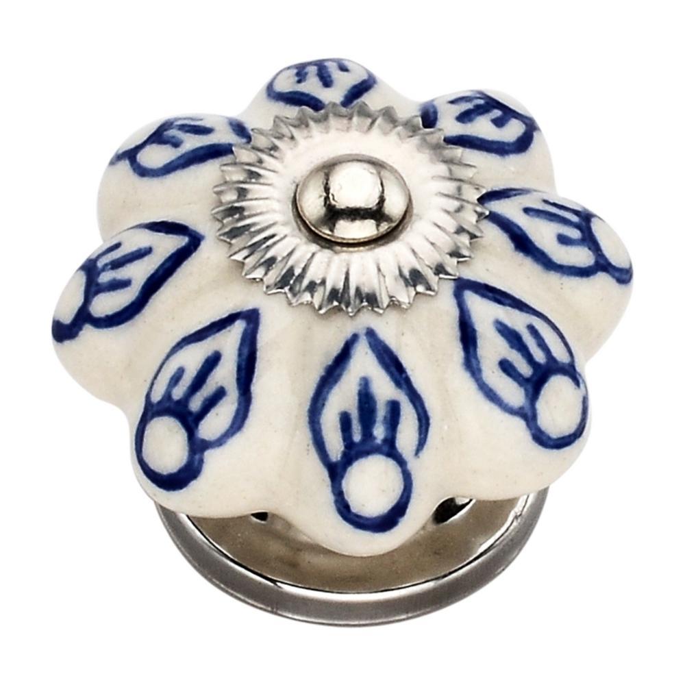 Blue Petal 1.54 in. Cabinet Knob