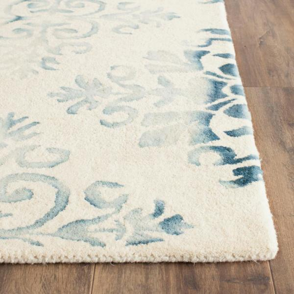 Safavieh Dip Dye Ivory Light Blue 2 Ft X 3 Ft Area Rug Ddy720q 2 The Home Depot