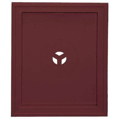 6.75 in. x 8.75 in. #078 Wineberry Large Recessed Universal Mounting Block