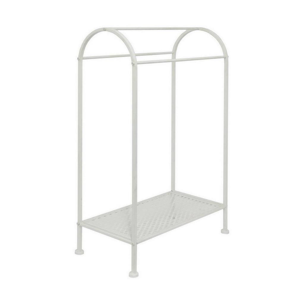 35.5 in. White Metal Quilt Rack