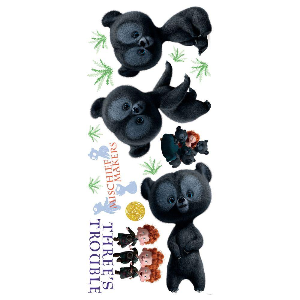 RoomMates Brave - 3 Brother Bear Giant Peel and Stick Wall Decals