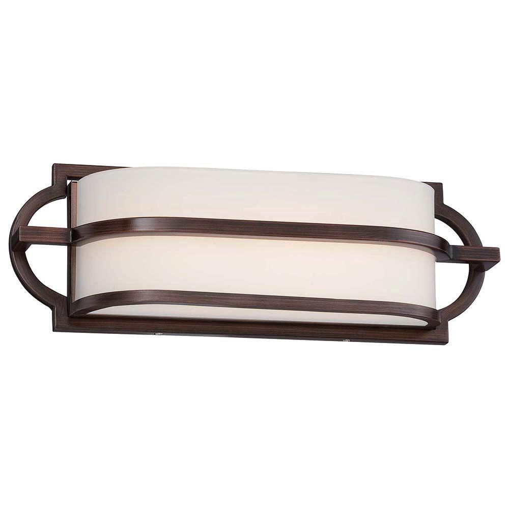 Mission Grove Dark Brushed Bronze LED Bath Light