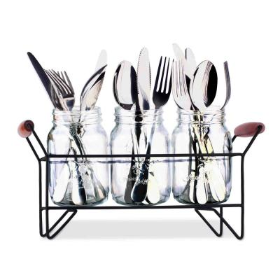 Mason Jar Cutlery Caddy