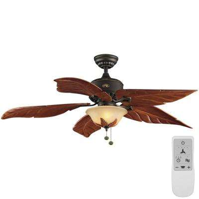 Antigua Plus 56 in. Oil Rubbed Bronze LED Ceiling Fan with Light Kit Works with Google Assistant and Alexa