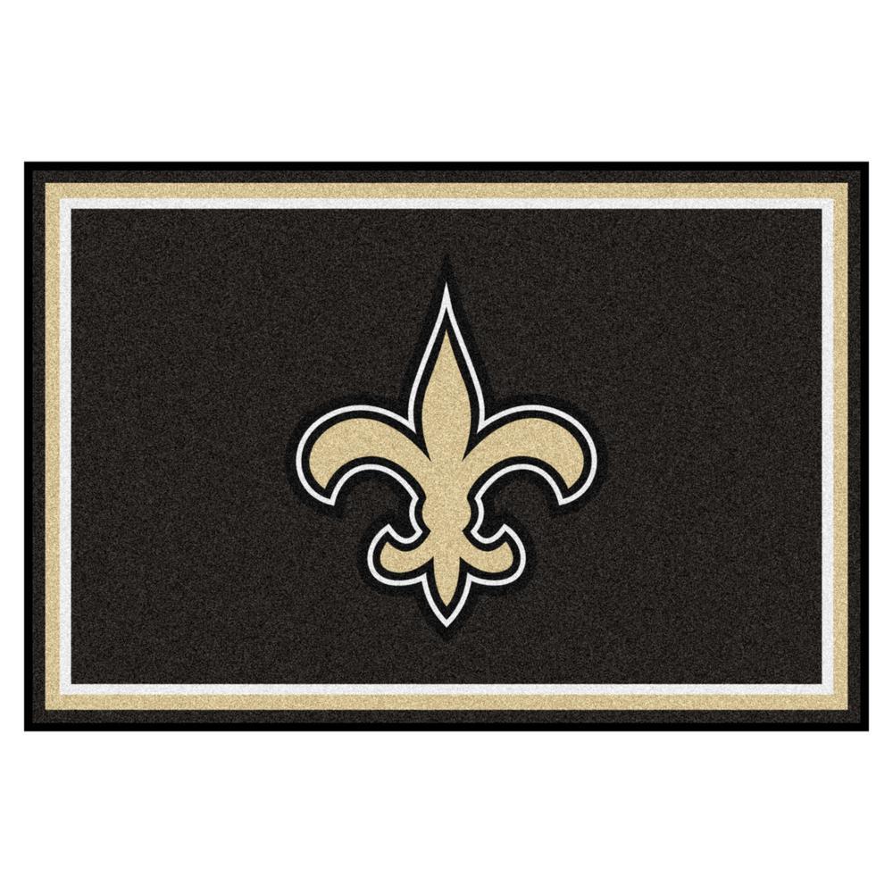 New Orleans Saints 5 ft. x 8 ft. Area Rug