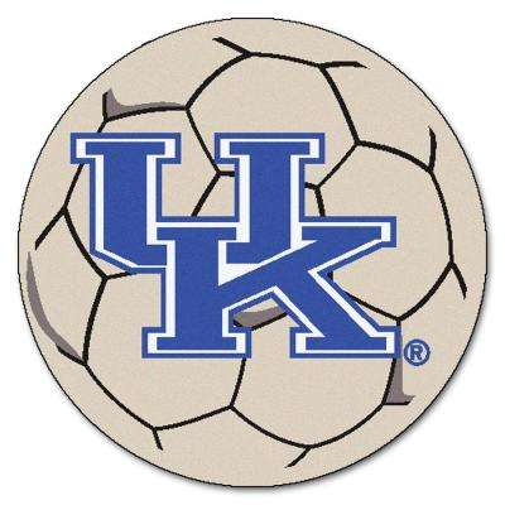 NCAA University of Kentucky UK Logo Cream 2 ft. x 2 ft. Round Area Rug