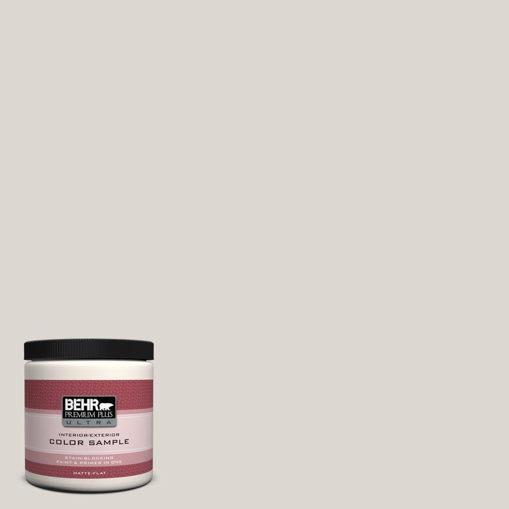 BEHR Premium Plus Ultra 8 oz. #N320-1 Campfire Ash Interior/Exterior Paint Sample
