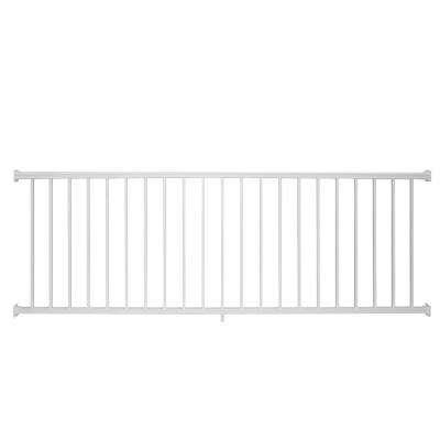 Stanford 42 in. H x 96 in. W Textured White Aluminum Railing Kit