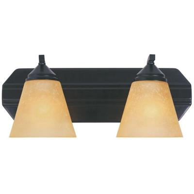 Piazza 2-Light Oil Rubbed Bronze Wall Mount Vanity Light