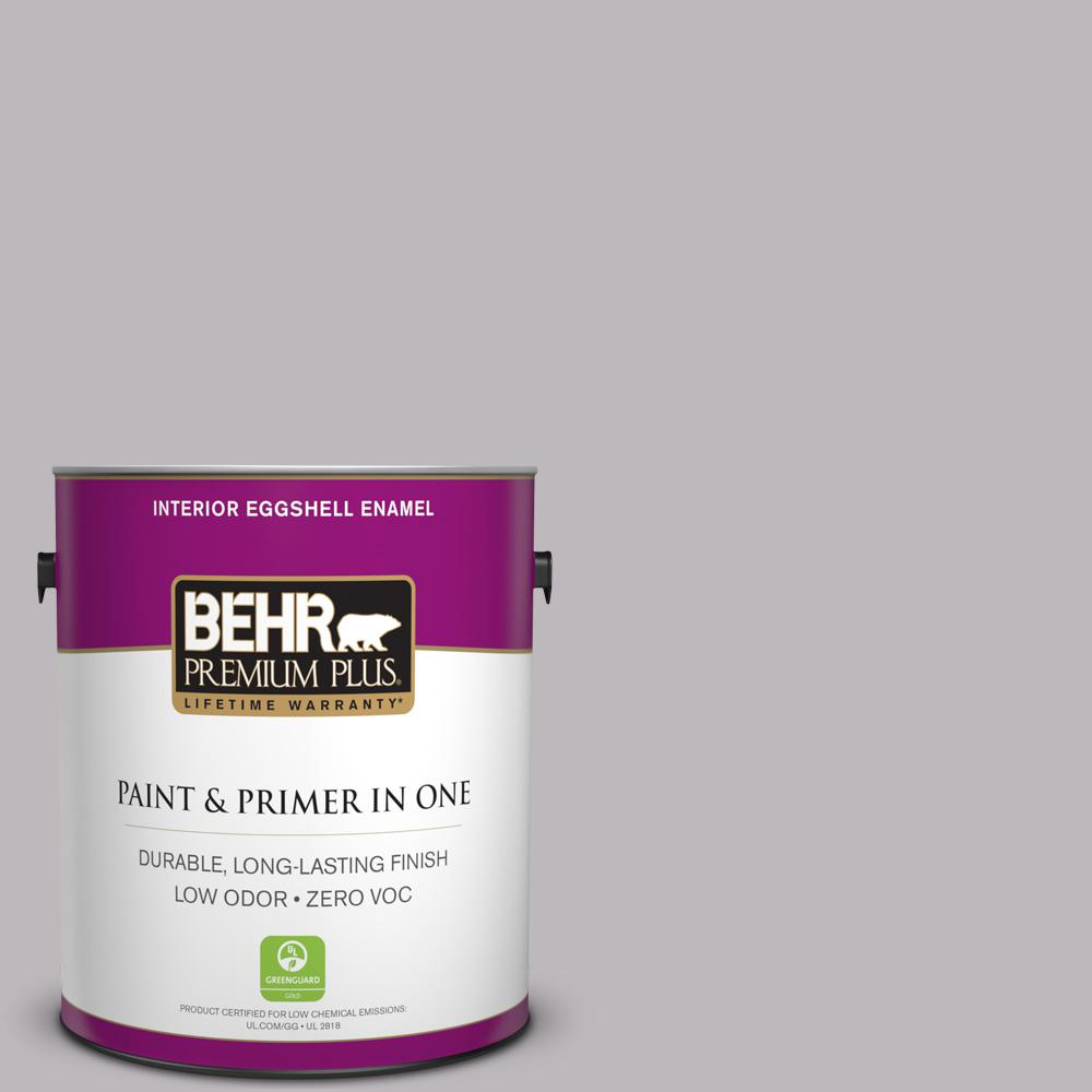 1 gal. #PPU16-10 French Lilac Zero VOC Eggshell Enamel Interior Paint