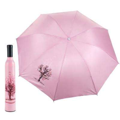 Pink and Red Wine Bottle Umbrella