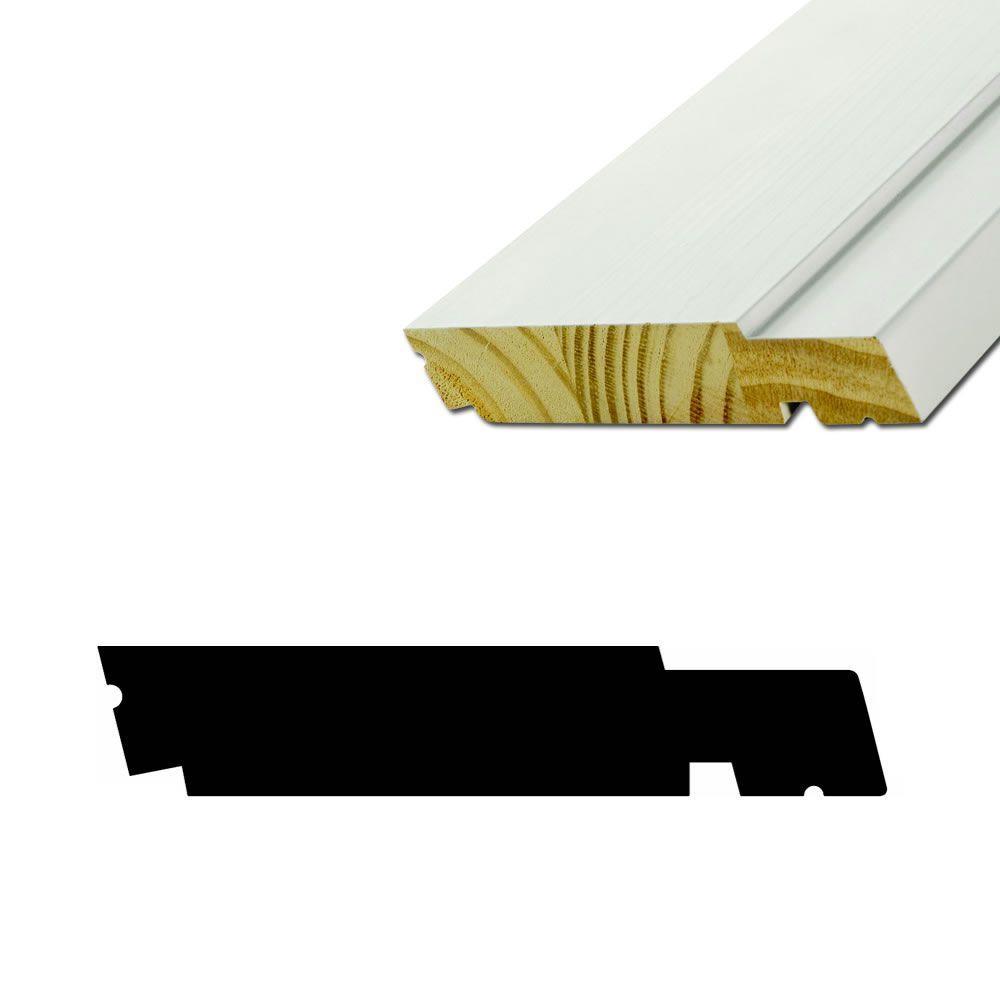 American Wood Moulding AMC1500 1-1/4 in. x 6-3/4 in. Primed Finger ...