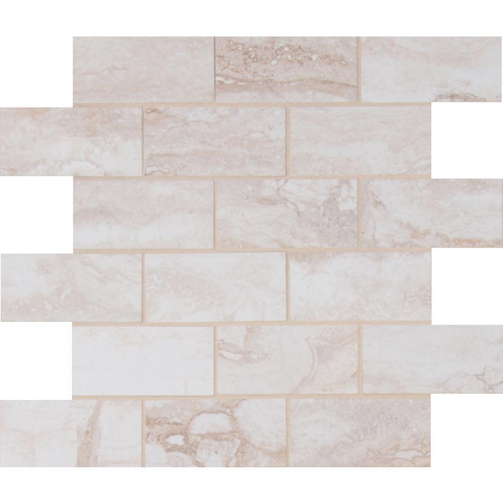 pietra bernini bianco 12 in x 12 in x 10 mm polished porcelain mesh