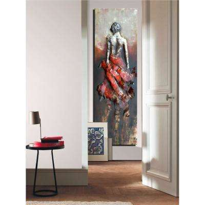 "70 in. x 22 in. ""Lady Waiting"" Metal Wall Art"