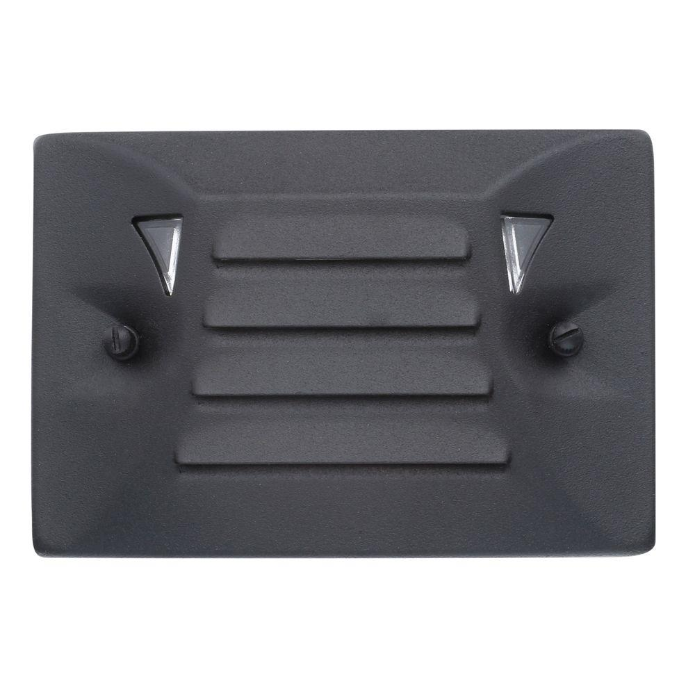 Low Voltage Black Outdoor Integrated LED Half Brick Deck Or Step Light