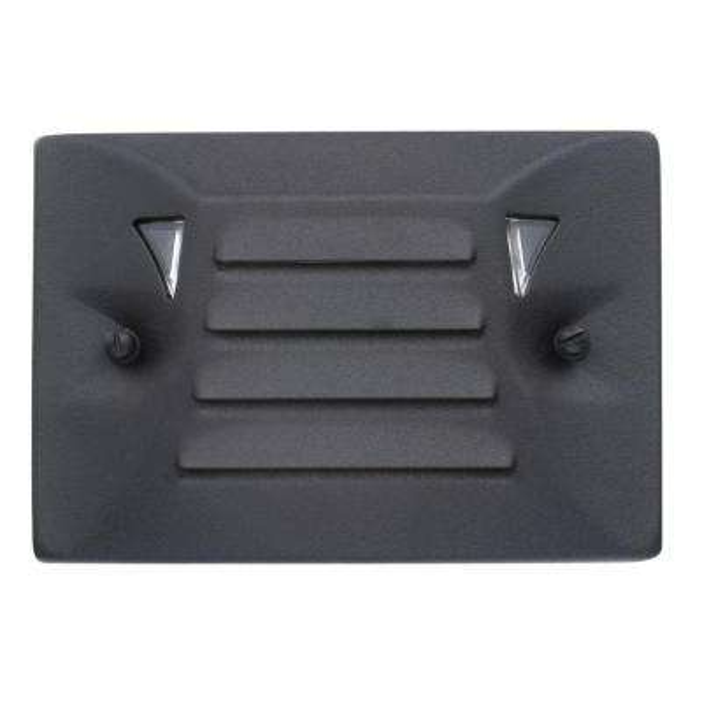 Low-Voltage Black Outdoor Integrated LED Half Brick Deck or Step Light