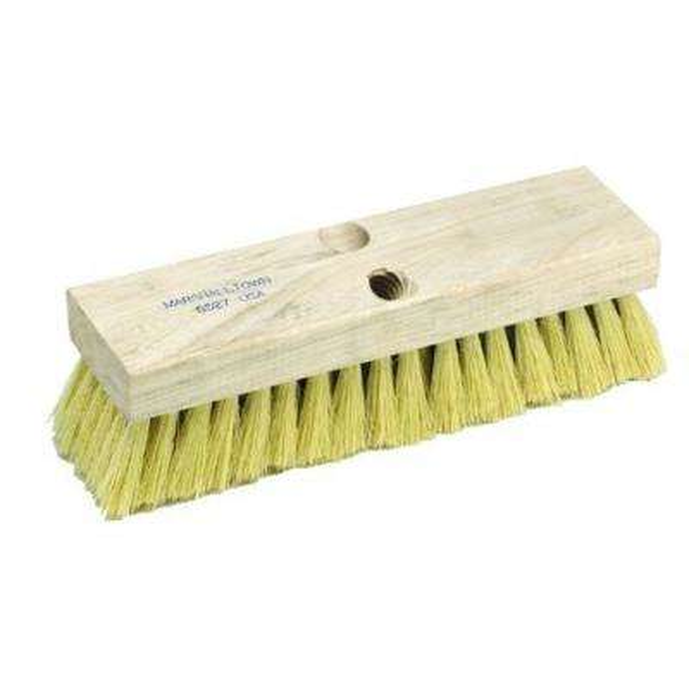 10 in. Concrete Deck Broom in Wood Block