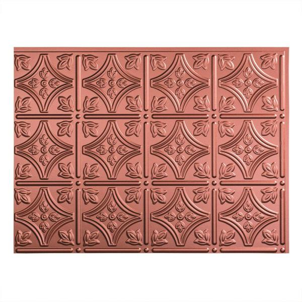 18.25 in. x 24.25 in. Argent Copper Traditional Style # 1 PVC Decorative Backsplash Panel
